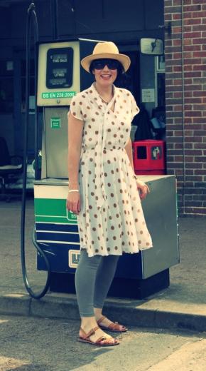 Spotty vintage dress