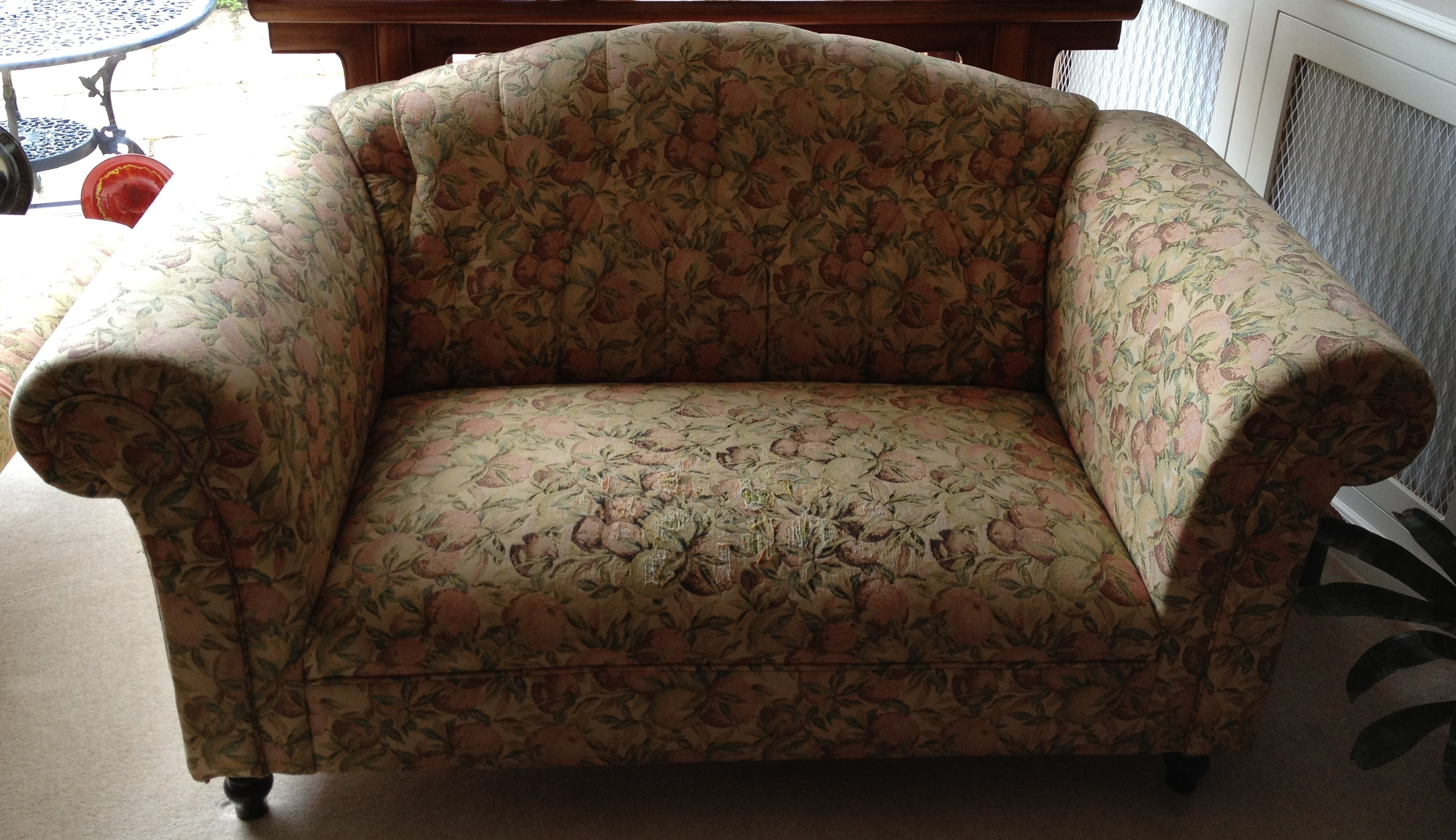 upcycling project an antique sofa charity chic