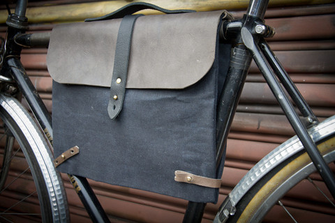bicycle bag leather madesmith